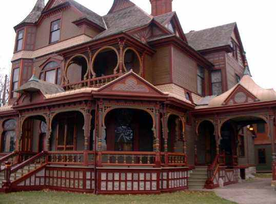 victorian house. Hackley Victorian house.