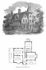 Historic House Floor Plans and Construction Designs with vintage ...
