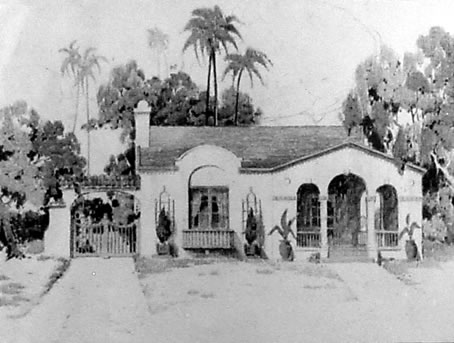 California Mission Spanish Bungalow House Plan 1923