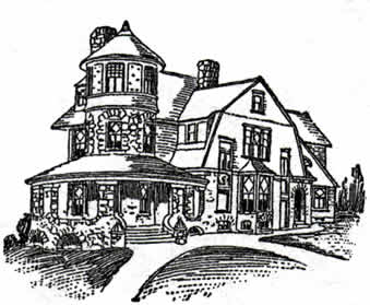 Victorian queen anne residence1906 house plan for Queen anne house plans