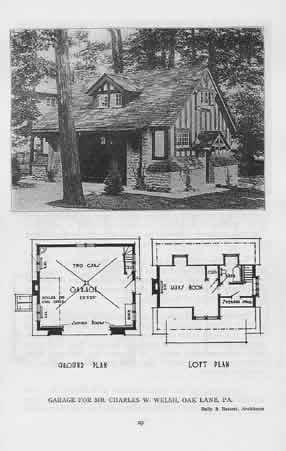 Garage Plans With Loft 1911 Garage Classic Original Plans