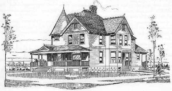 25 radford 1902 house plans for Queen anne cottage house plans